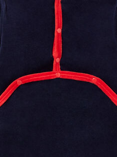Navy blue velvet sleep suit for boys with space motifs LEGAGRESPA / 21SH1452GRE713
