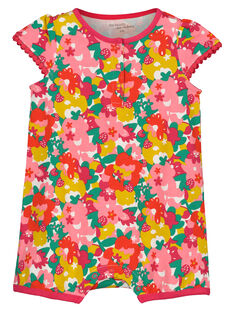 Baby girls' short sleepsuit FEFIGREFLO / 19SH13H3GRE099