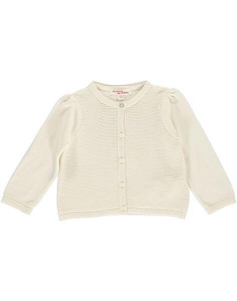 Baby girls' ecru cardigan DIJOCAR1 / 18WG0931CAR001