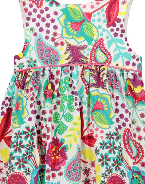 Baby girls' printed sleeveless dress FICAROB1 / 19SG09D1ROB000