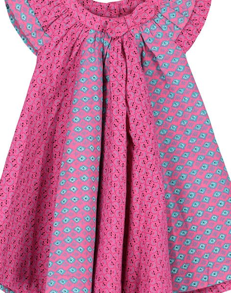 Baby girls' poplin dress FITUROB4 / 19SG09F4ROB712
