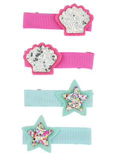 Set of girls' hair clips FYANECLIC2 / 19SI01V6BRT099