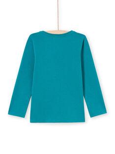 Girl's dark turquoise T-shirt MAJOYTEE6 / 21W9012ATMLC217