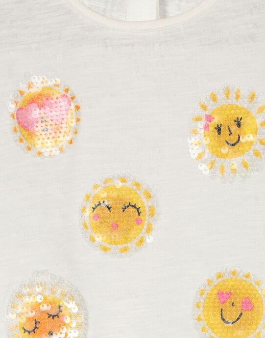 Girls' short-sleeved T-shirt FALITI / 19S90121TMC001