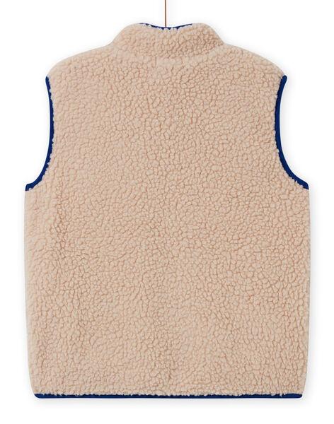Boy's beige faux fur sleeveless vest MOCOVES / 21W902L2GIL009