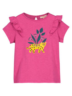 Girls' fancy T-shirt FATUTI3 / 19S901F3TMC712