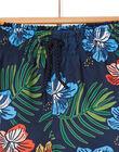 Night blue bathing shorts for boys LYOMERBOXTRO / 21SI02DCMAI705