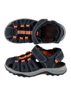 Boys' smart sandals in two fabrics FGSANDIMA / 19SK36D2D0E070