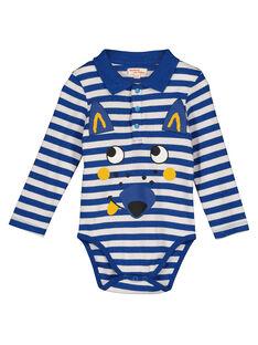 Baby boys' long-sleeved striped bodysuit GUBLEBOD / 19WG1091BOD000
