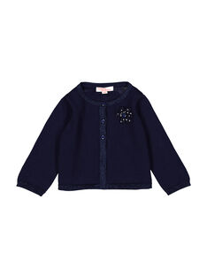 Baby girls' navy blue cardigan FIJOCAR3 / 19SG0933CARC205