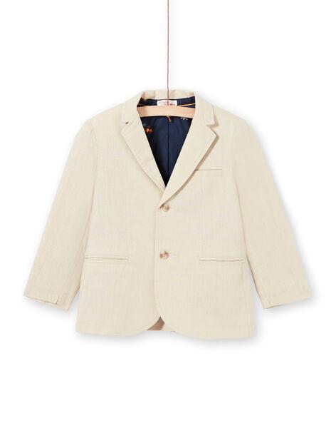 Beige jacket boy child LOJAUVES / 21S902O1VESA014