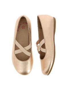 Girls' leather ballet pumps CFBALDANSE / 18SK35W5D41954