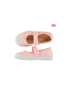 Girls' embroidered canvas Mary-Janes FFBABBROD / 19SK35B2D17030