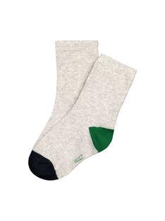 Boys' three colour socks FYOJOCHO4B / 19SI0238SOQJ906