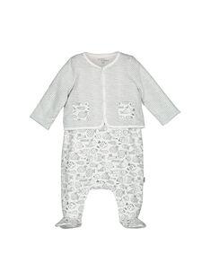 Unisex babies' dungaree and cardigan set FOU1ENS2 / 19SF0512ENS099