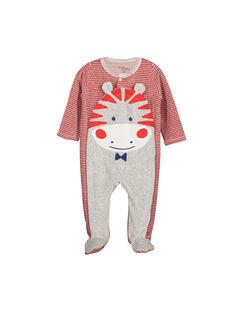 Baby boys' hippopotamus sleepsuit FEGAGREZEB / 19SH1441GRE099