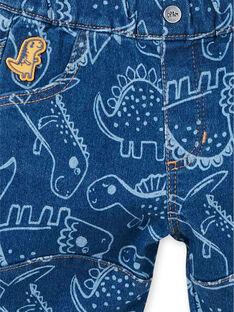 Blue dinosaur print pants baby boy LUCANPAN2 / 21SG10M2PANP272