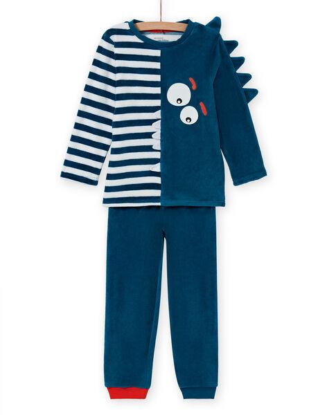 Blue phosphorescent pyjama set with crocodile pattern for boys MEGOPYJVER / 21WH1231PYJC225