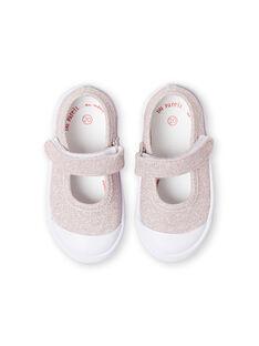 Baby girl pink sequined slippers LBFBABLUREX / 21KK3742D17301