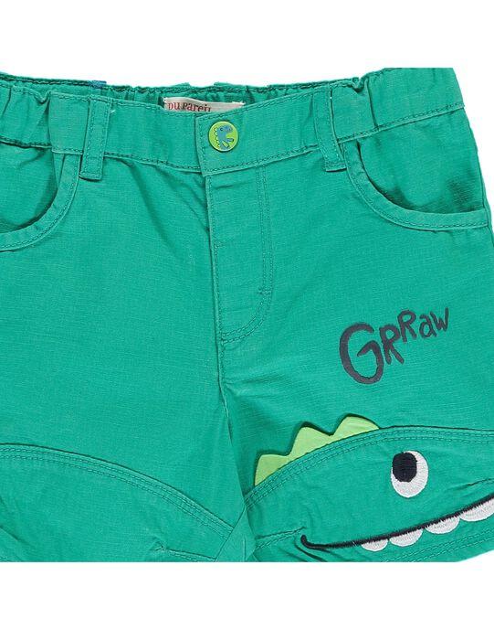 Baby boys' green shorts CUDOUBER1 / 18SG10J1BER613