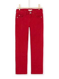 Red PANTS MOJOPAKNI3 / 21W90225PAN506