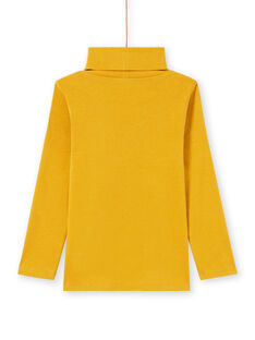 Boy's yellow plain long sleeve underpants MOJOSOUP1 / 21W902N1SPL113