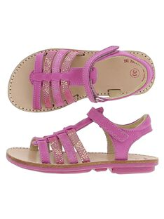 Girls' leather sandals CFSANDFUSH / 18SK35W1D0E304