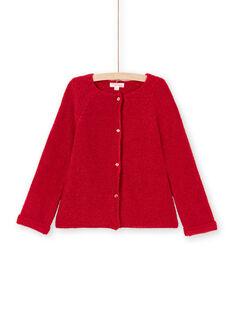 Girl's long-sleeved vest, plain red MAJOCAR5 / 21W90121CAR511