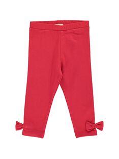 Baby girls' red leggings CYIJOLEG3 / 18SI09R3CALF518