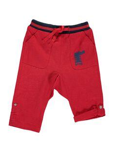 Baby boys' linen trousers CUGAUPAN / 18SG10L1PANF513