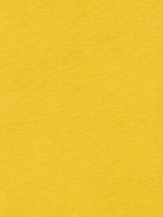 Yellow cotton t-shirt boy child LOJOTEE2 / 21S90234TML102