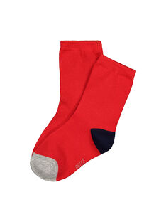 Boys' three colour socks FYOJOCHO5B / 19SI023ASOQF513