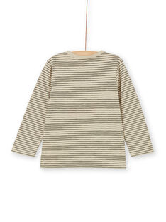 T-shirt sand and black striped and animation cotton dog dog boy boy boy LOPOETEE / 21S902Y1TML808