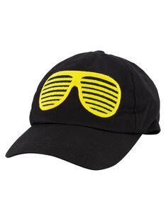 Boys' fancy black cap GYOBLECAP / 19WI0291CHA090