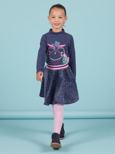 Navy blue sequinned owl underpants for baby girls MAPLASOUP / 21W901O1SPLC202