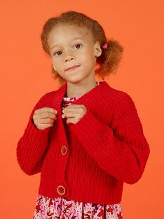 Girl's red vest MACOMCAR1 / 21W901L2CAR408