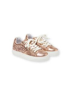 Pink gold SNEAKERS LFBASGOLD / 21KK3533D3FK009