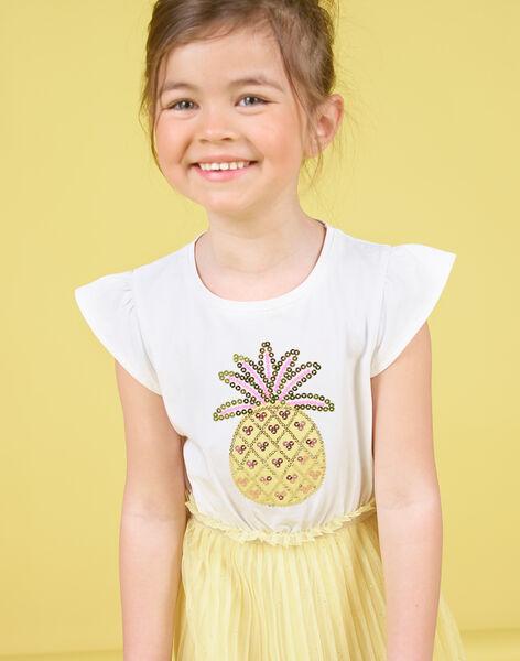 White and yellow dress child girl LAJAUROB5 / 21S901O5ROB000