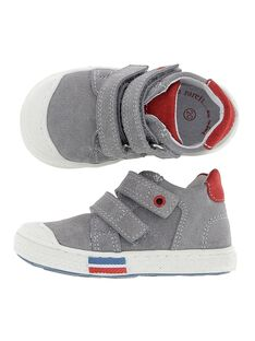 Baby boys' leather city trainers. CBGBASBOUT / 18SK38W4D3F940