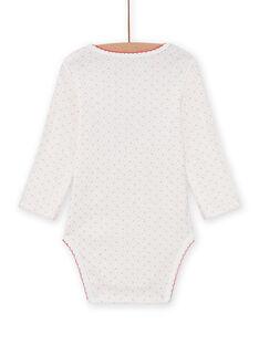 Baby girl white bodysuit with animal print MEFIBODAMI / 21WH13C5BDL001