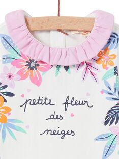 Baby girl's ruffled collar bodysuit with floral print MIPLABOD / 21WG09O1BOD001