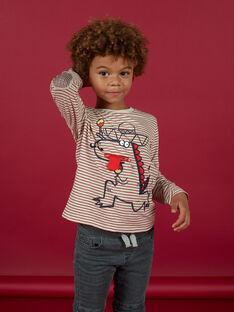Long sleeve striped t-shirt child boy MOFUNTEE4 / 21W902M1TML810