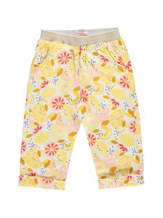 Baby girls' printed trousers CIPIPAN / 18SG09I1PAN099