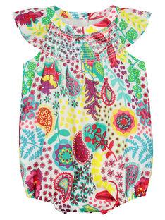Baby girls' printed romper FICABAR / 19SG09D1BAR000