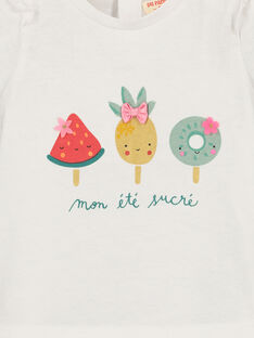 Baby girls' printed T-shirt FICUTI1 / 19SG09N1TMC000