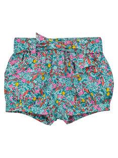 Baby girls' flowery shorts FICUSHO2 / 19SG09N1SHO202
