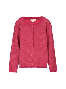 Girls' gold knit cardigan FABACAR1 / 19S90161CAR099