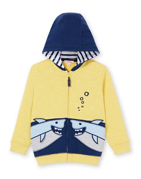 Yellow and blue hoodie - Boy's hoodie LONAUGIL / 21S902P1GILB102