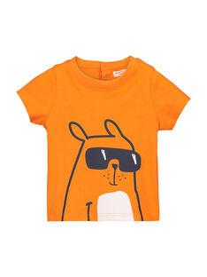 Orange T-shirt FUJOTI3 / 19SG1033TMC405