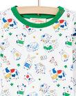 Baby Boy White & Green Animal Print T-Shirt MUMIXTEE1 / 21WG10J1TML001